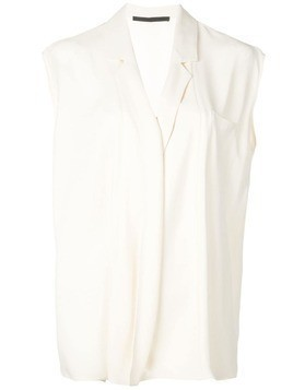 Haider Ackermann cap sleeve blouse - White