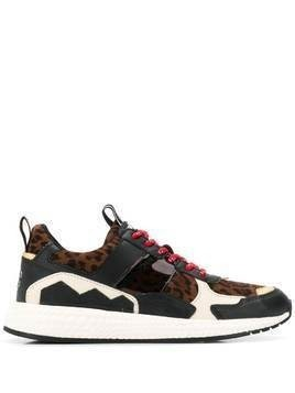 Moa Master Of Arts animal patch sneakers - Black