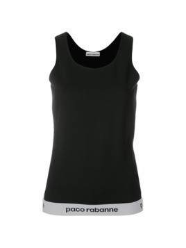 Paco Rabanne branded hem tank top - Black