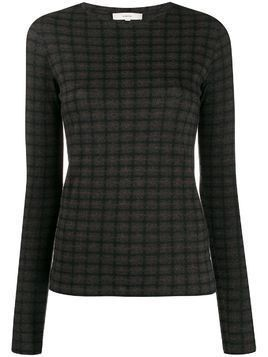 Vince checked slim-fit jumper - Grey