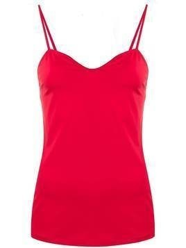 Escada slim-fit cami top - Red