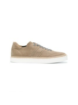 Hogan perforated detail sneakers - Nude&Neutrals