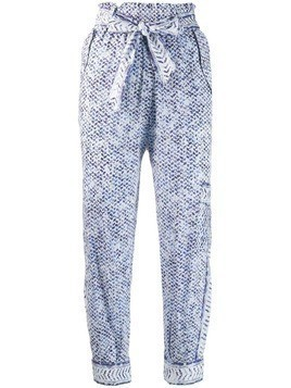 Lala Berlin printed paper bag trousers - White