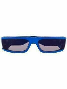 Retrosuperfuture narrow-rectangular sunglasses - Blue