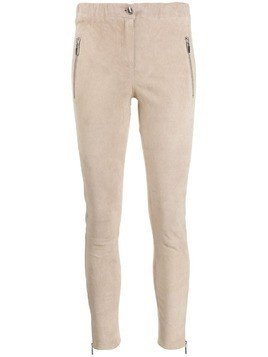 Arma skinny leather trousers - Neutrals