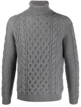 Alanui knitted roll neck jumper - Grey