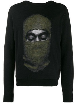 Ih Nom Uh Nit balaclava print sweater - Black