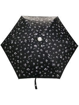 Karl Lagerfeld mascot-print umbrella - Black