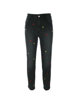Stella McCartney hearts cropped jeans - Black