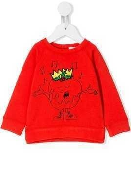 Stella McCartney Kids Christmas pudding sweatshirt - Red