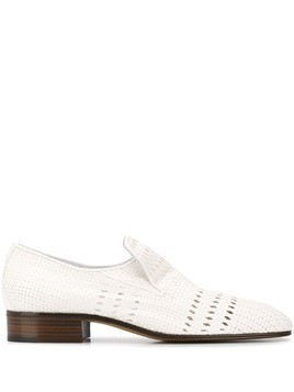 Victoria Beckham punch hole detail loafers - White