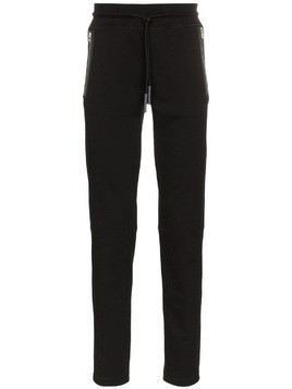 Moncler zipped pocket cotton sweatpants - Black