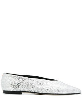 Aeyde pointed toe ballerina shoes - Silver