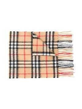 Burberry Kids signature check knit scarf - Neutrals