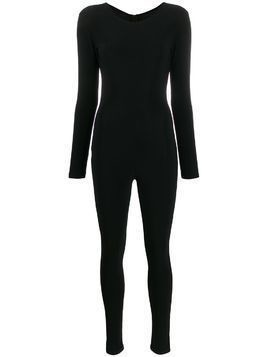 Alchemy zip-up fitted cat suit - Black