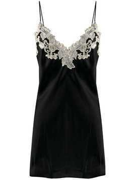 La Perla Maison lace trim slip dress - Black