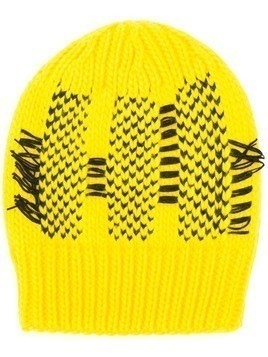 Y-3 woven design beanie - Yellow & Orange