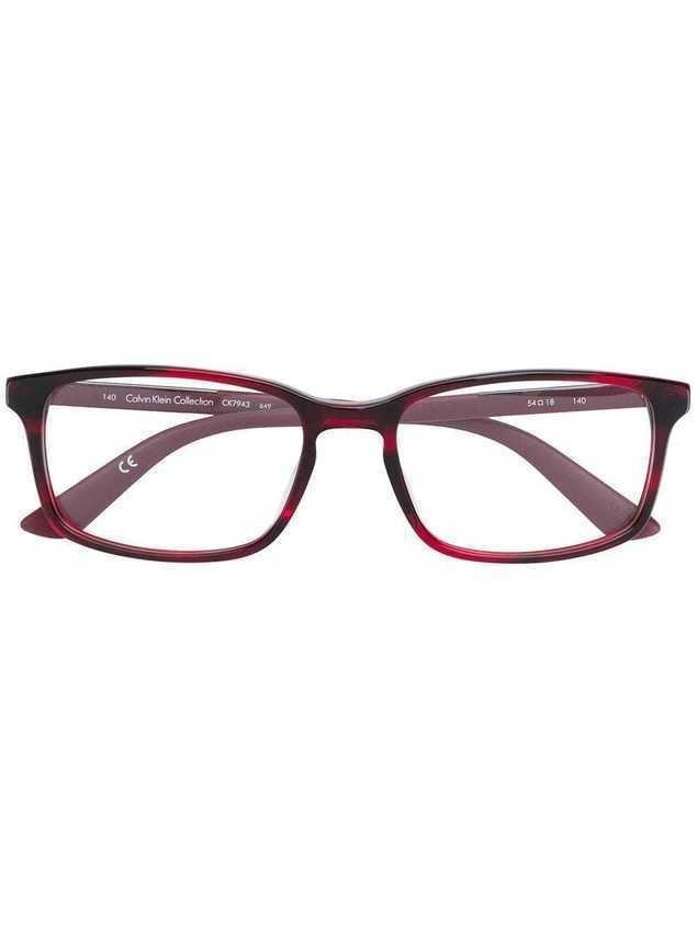 Calvin Klein square frame glasses - Red