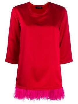 Gianluca Capannolo Diane feather-embellished T-shirt - Red