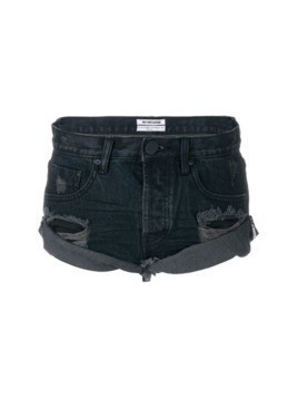 One Teaspoon distressed denim shorts - Black