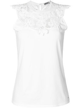 Liu Jo embroidered neck tank top - White