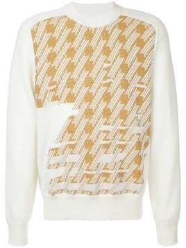 Maison Margiela dogtooth embroidered sweater - Nude & Neutrals