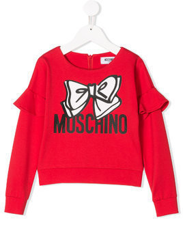 Moschino Kids bow print sweatshirt - Red