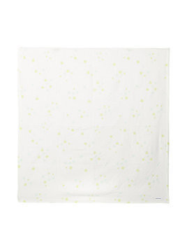 Miki House patterned baby blanket - White
