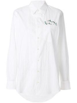 Julien David embroidered shirt - White