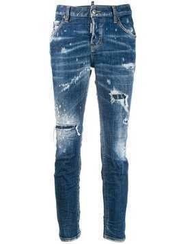 Dsquared2 distressed slim-fit jeans - Blue