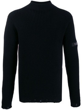 John Richmond knitted roll neck jumper - Black