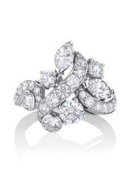 De Beers 18kt white gold Adonis Rose cluster diamond ring
