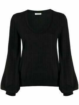 P.A.R.O.S.H. bell sleeve fine knit jumper - Black