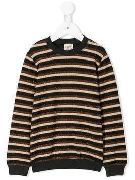 Caffe' D'orzo striped knit jumper - Brown