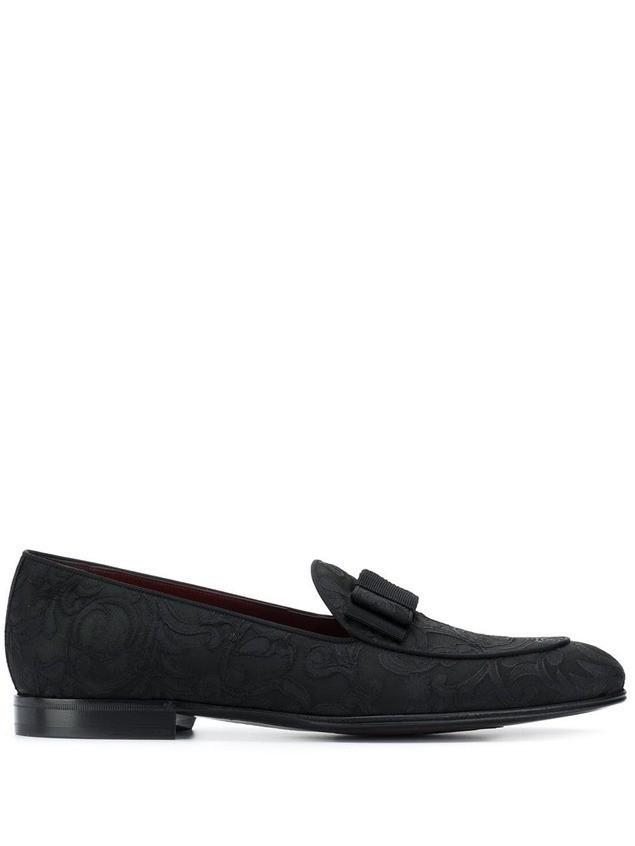 Dolce & Gabbana baroque jacquard loafers - Black