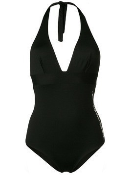Gentry Portofino simple one piece swimsuit - Black