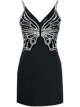 David Koma pearl embellished dress - Black