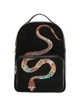 Roberto Cavalli Snake embellished backpack - Black