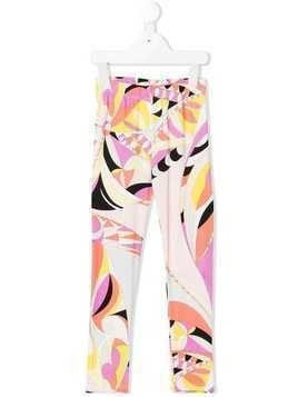 Emilio Pucci Junior printed leggings - Yellow