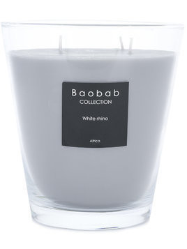 Baobab Collection White Rhino candle - Grey