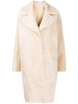 Drome oversized faux-fur coat - NEUTRALS