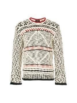 Jean Paul Gaultier Vintage geometric pattern knitted jumper - White