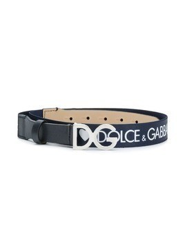 Dolce & Gabbana Kids elasticated heart logo belt - Blue
