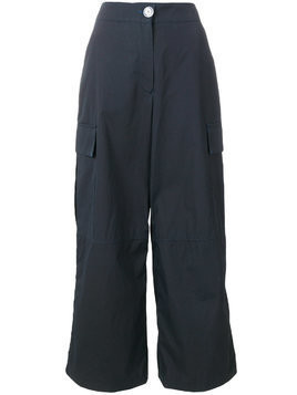 Walk Of Shame cargo pocket palazzo trousers - Blue