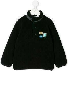 Familiar car patch fleece - Black