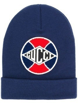 ffaa150673cd4 Gucci Hat with Gucci Game baseball patch - Blue