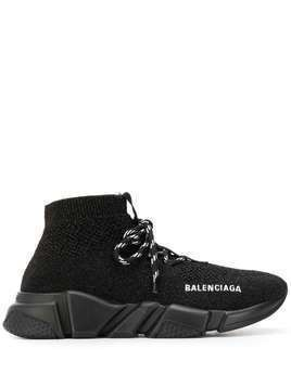 Balenciaga Speed lace up sneakers - Black