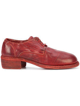 Guidi derby shoes - Red