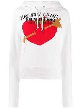 Helmut Lang hooded print sweatshirt - White