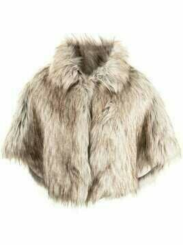 Unreal Fur Nord faux-fur cropped cape - Brown